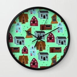Tiny house Village by Keyton Design Wall Clock
