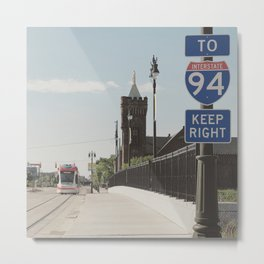 Light Rail City Metal Print