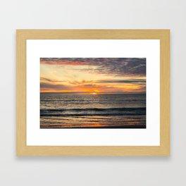 South Ponto Sunset Framed Art Print