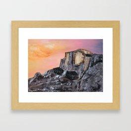 Yosemite Oil Painting Framed Art Print