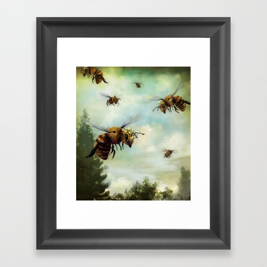 Crown of Bees Framed Art Print