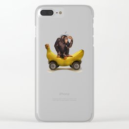 Chimp my Ride Clear iPhone Case
