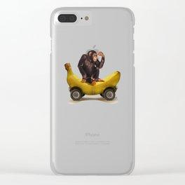Chimp my Ride Clear iPhone Case
