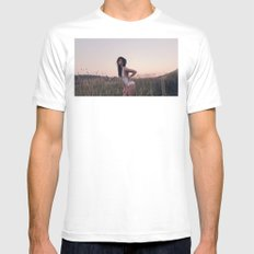 Sunset in Colorado MEDIUM White Mens Fitted Tee