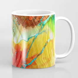 Red And Yellow Abstract Art - A Strong Finish - Sharon Cummings Coffee Mug