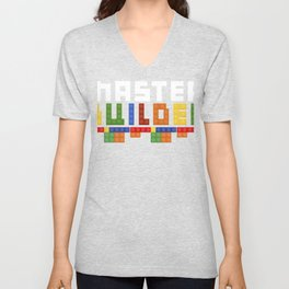 Master Builder Everything Is Awesome Gift graphic print Unisex V-Neck