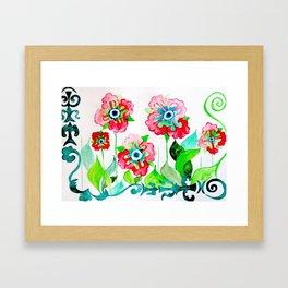 Ethnic style wildflowers  Framed Art Print