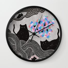 Collage Cats II Wall Clock