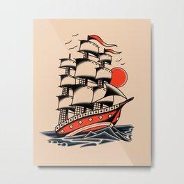 American traditional boat Metal Print