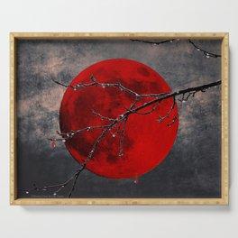 Modern Blood Red Moon Rain Gothic Decor A175 Serving Tray