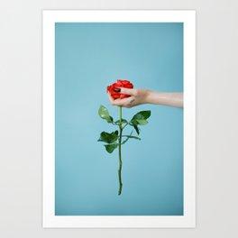 rose/oil Art Print