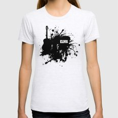 ELVIS Ash Grey Womens Fitted Tee LARGE
