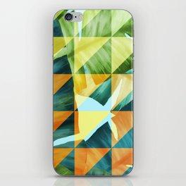Abstract Geometric Tropical Banana Leaves Pattern iPhone Skin