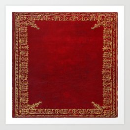 Red and Gilded Gold Book Art Print