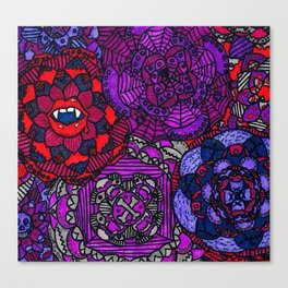 Spooky Flowers Canvas Print