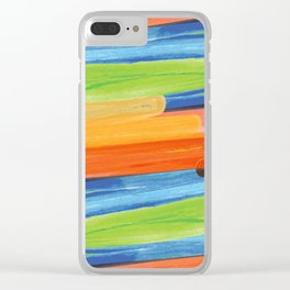Color yellow red blue green Clear iPhone Case