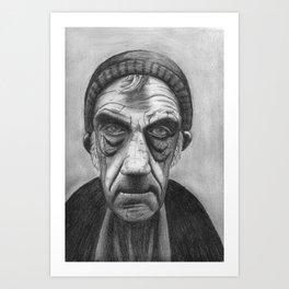 Old Sailor in Pencil Art Print