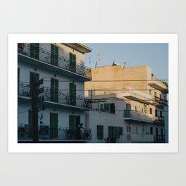 Sunset in Ibiza Art Print
