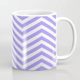 Purple and White Chevron Coffee Mug