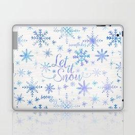 Let It Snow Winter Pattern Laptop & iPad Skin