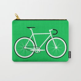 Green Fixed Gear Road Bike Carry-All Pouch