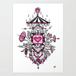 LOVE grows calliope Art Print