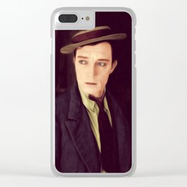 Buster Keaton Clear iPhone Case