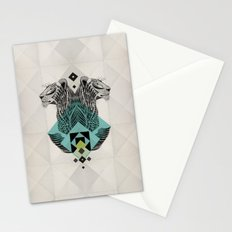 Blue Leopard Stationery Cards