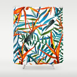 Exotic nature and flowers Shower Curtain