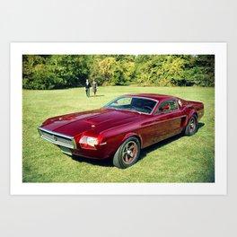 Rare 1963 Original Mustang Concept Art Print