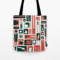 walking dead Tote Bags featuring The walking dead by Felix Rousseau
