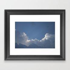 Layered Clouds Framed Art Print