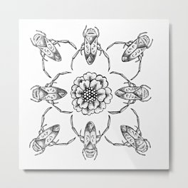 Synchronized Back Swimmers Metal Print