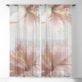 Blossom, Pink Flowers Sheer Curtain