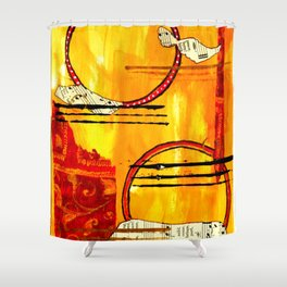 Music of Orbs Shower Curtain