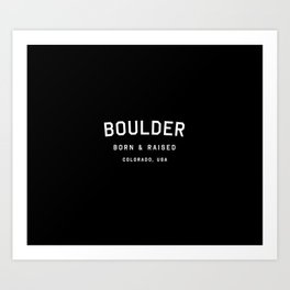 Boulder - CO, USA (Arc) Art Print