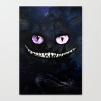 cheshire Canvas Prints featuring CHESHIRE by Julien Kaltnecker