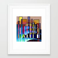seattle Framed Art Prints featuring Seattle by Kristine Rae Hanning
