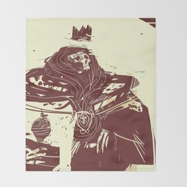 Ghost of the King Throw Blanket