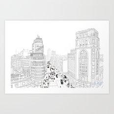 Gran Vía, Madrid Art Print