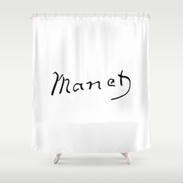 Edouard Manet's Signature Shower Curtain