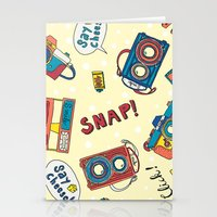cameras Stationery Cards featuring Cameras by Claire Lordon