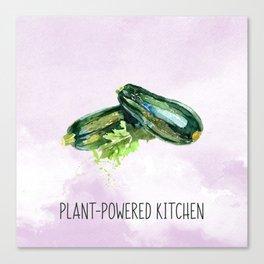 Plant-Powered Kitchen Zucchini Canvas Print