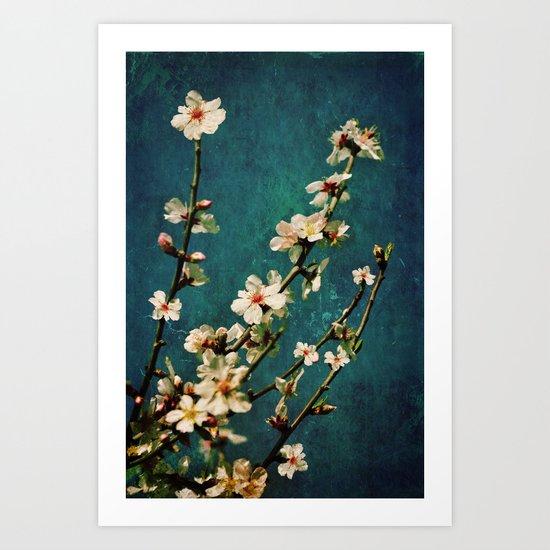 grunge spring Art Print