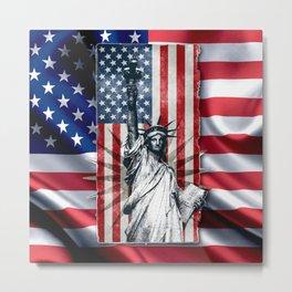 Lady Liberty Metal Print