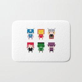 Pixel Avengers Bath Mat