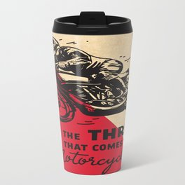 Vintage poster - Motorcycling Travel Mug