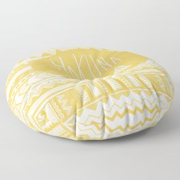 Hakuna Matata Yellow Floor Pillow