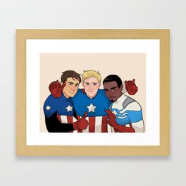 Cap Cubed Part Two Framed Art Print