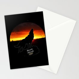 Stay Gold Lone Wolf Stationery Cards